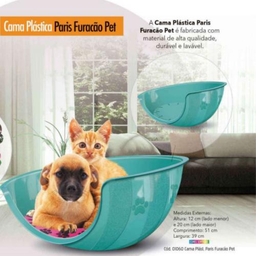 Cama Caminha Gato Cachorro Paris c/ Almofada Furacão Pet