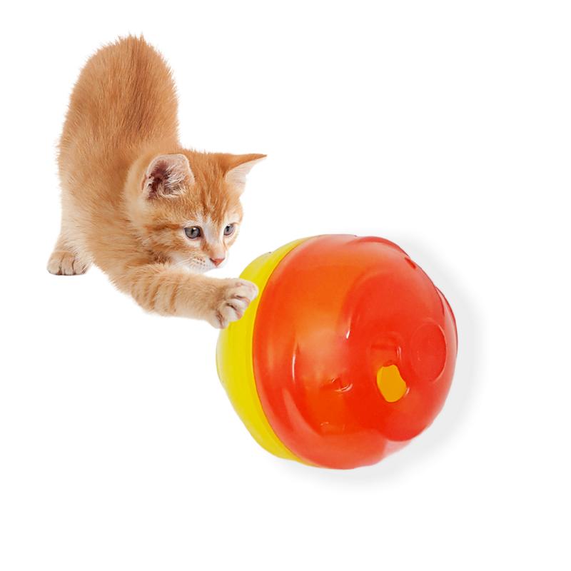 Comedouro + Brinquedo 2 Em 1 p/ Gatos Cat Ball Pet Games