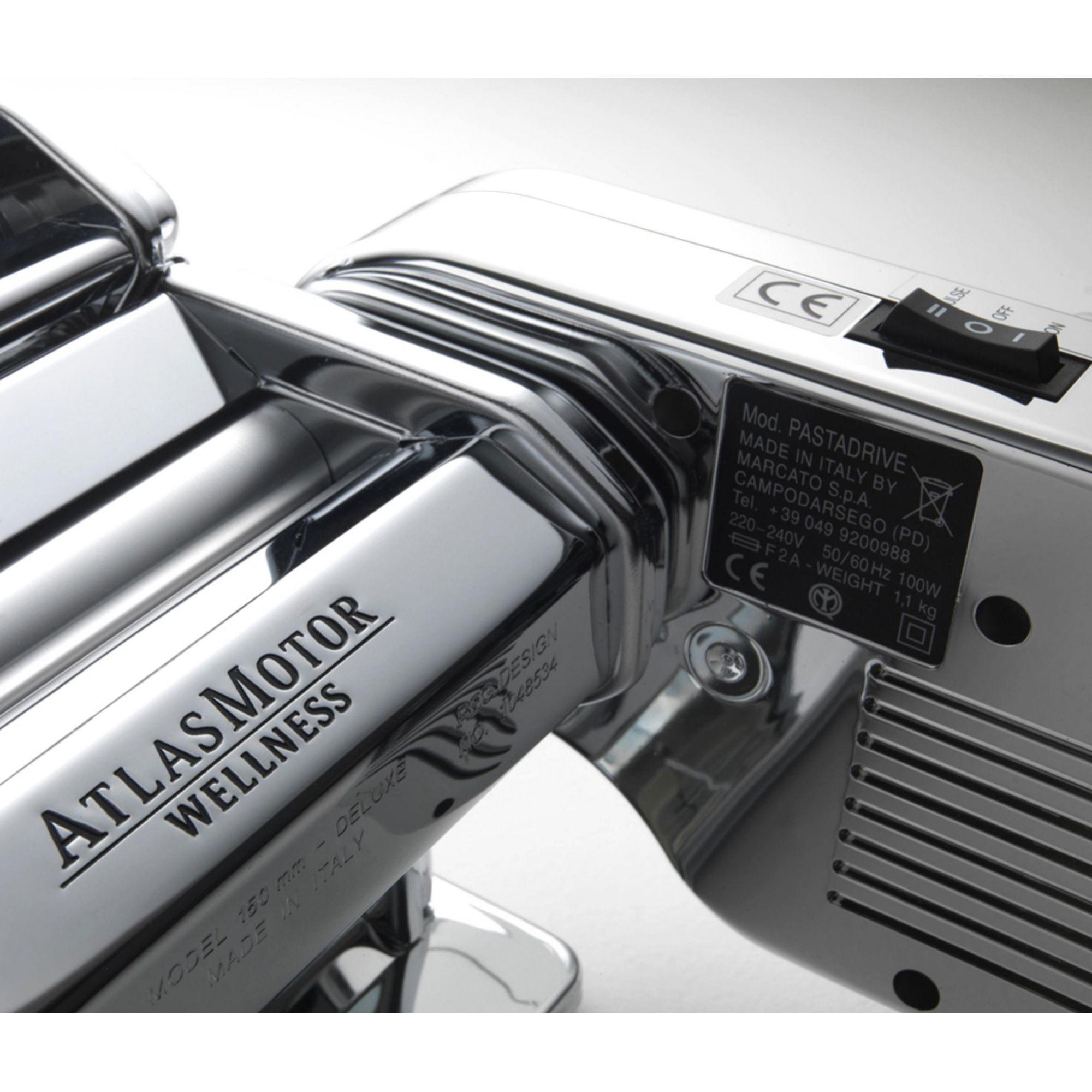 Combo Set Multipast Máquina de Macarrão com Varal Transparente para Massas e Motor 110v Marcato