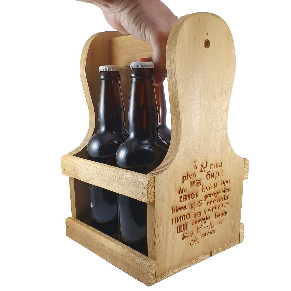 Engradado Caixa p/ Cervejas Gourmet em Madeira Pinus