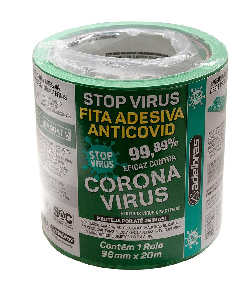 Fita Adesiva Antivírus Stop Vírus 96mm x 20m Adelbras