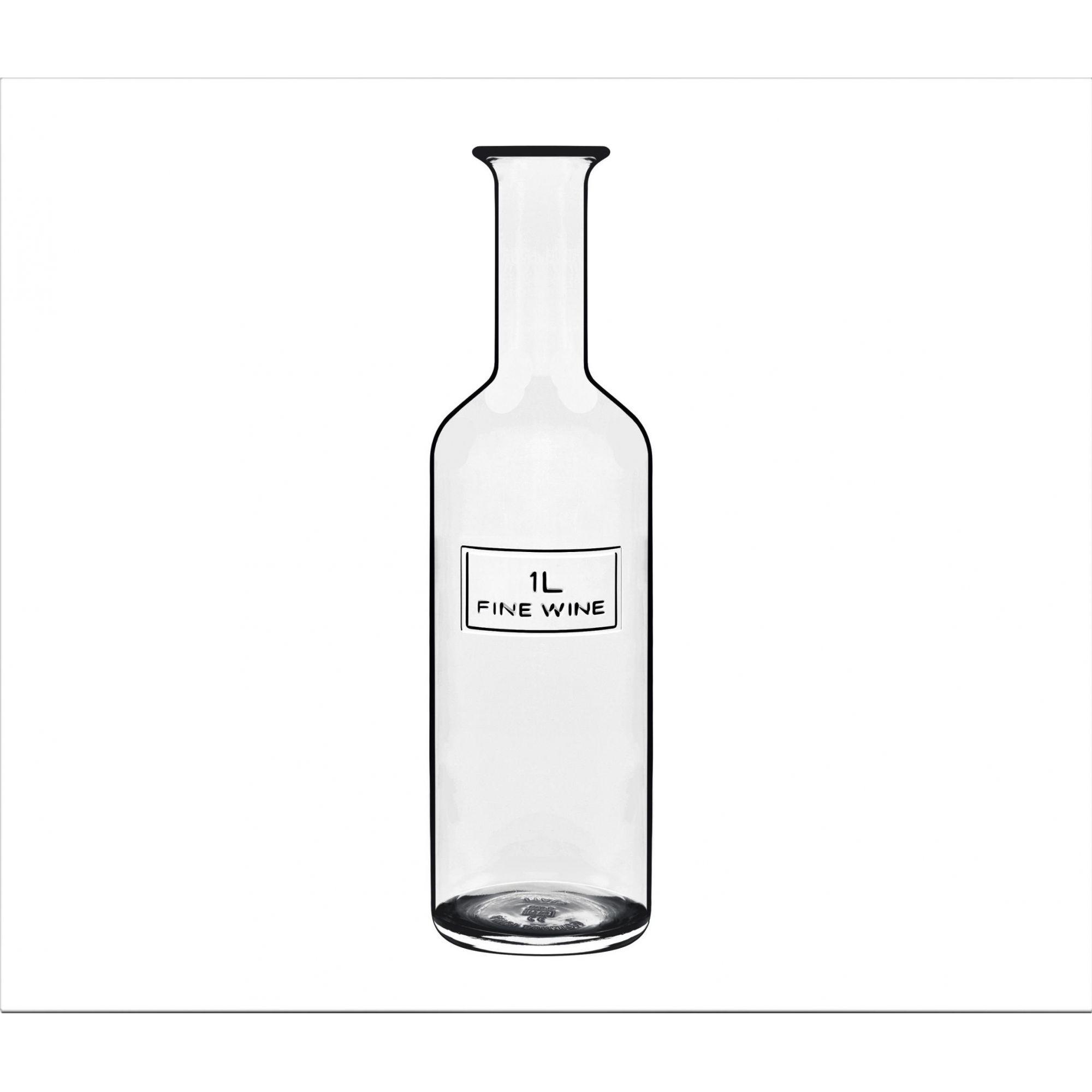 Garrafa de Agua e Suco Luigi Bormioli em Vidro 1 L Optima Fine Wine