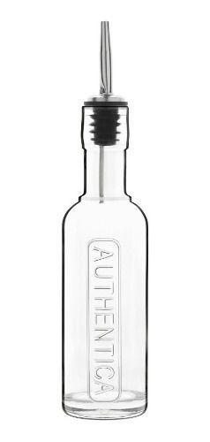 Garrafa De Agua Vidro com Bico Inox 2 Peças 250 ml e 500 ml Optima Luigi Bormioli