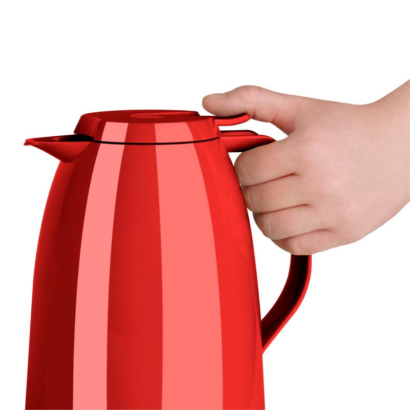 Garrafa Térmica 1 Litro Mambo Quick Tip Café Vermelha Emsa
