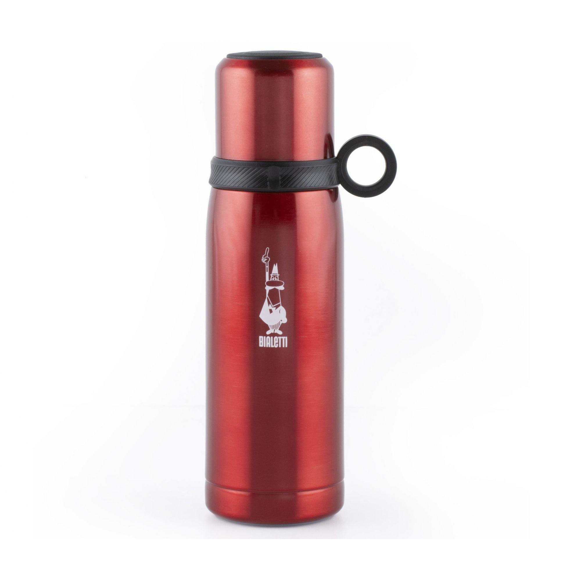 Garrafa Térmica Vermelha 460 ml - Aço Inox