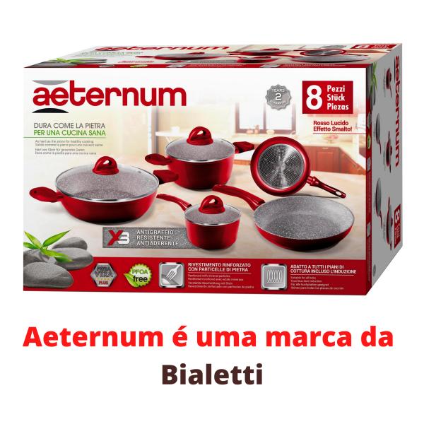 Jogo De Panelas Antiaderente 8 Peças Indução Aeternum Bialetti