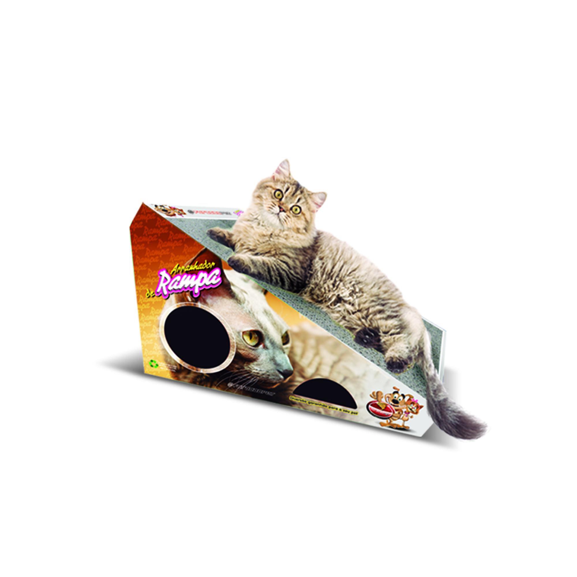 Kit 1 Arranhador p/ Gatos Rampa e 1 Refil Furacão Pet
