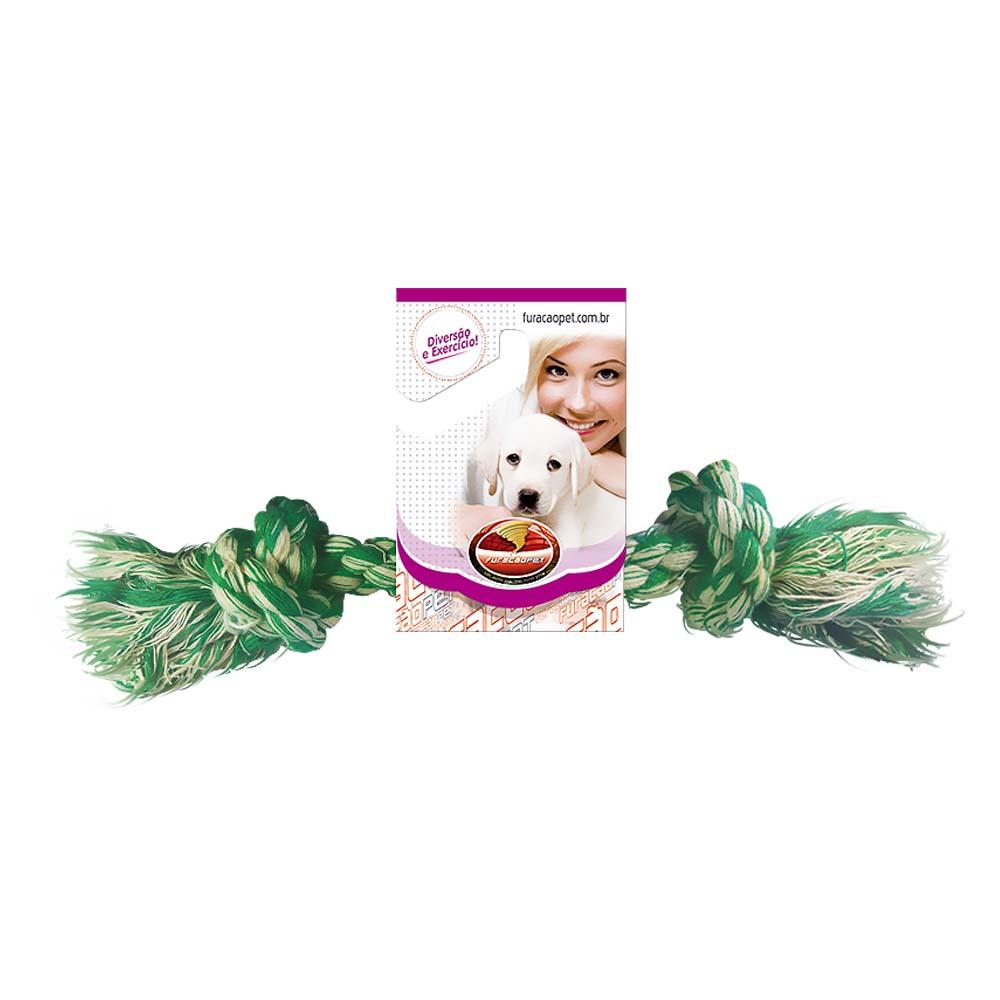Kit 2 Brinquedos Dental Bone Mini Cães Corda Furacão Pet