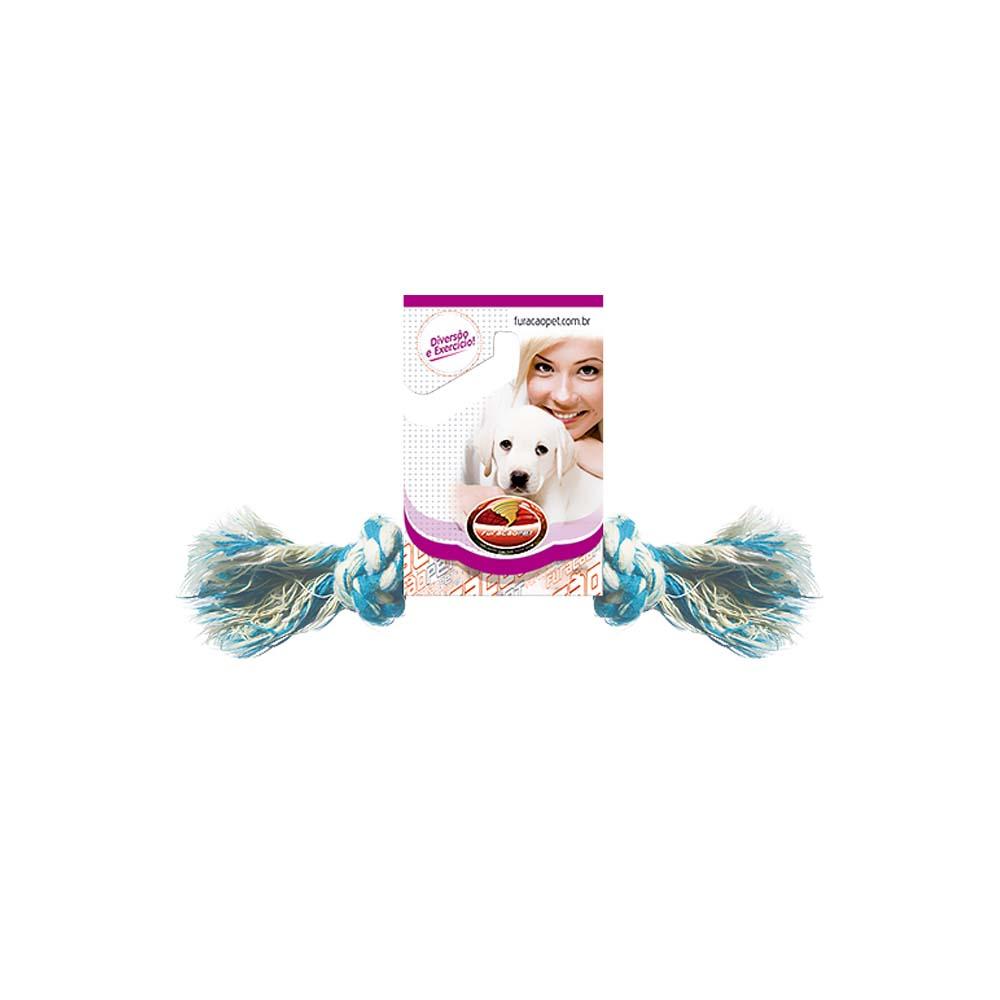 Kit 2 Brinquedos Dental Bone P Cães Corda Furacão Pet