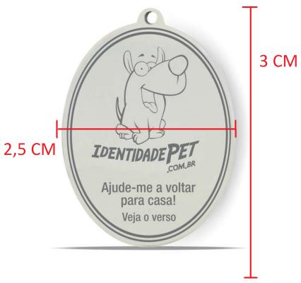 Kit 2 Medalhas Identidade Pet Localização QRCODE Furacão Pet