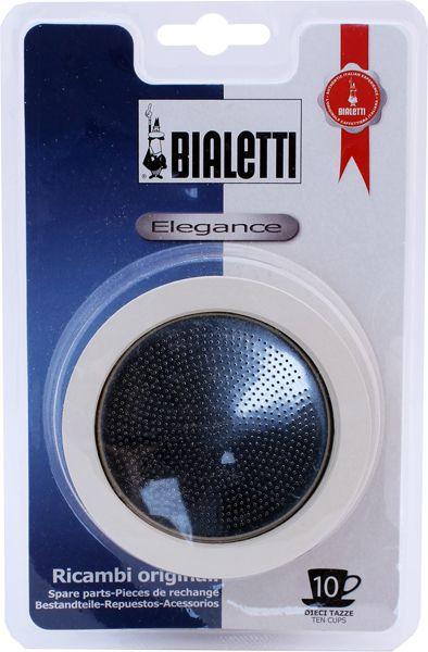 Kit 3 borrachas e filtro para Cafeteira Inox Vênus 10 xícaras Bialetti