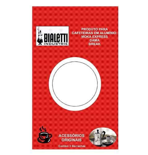 KIT 3 Borrachas + Filtro Cafeteira 6 Xíc Bialetti Original