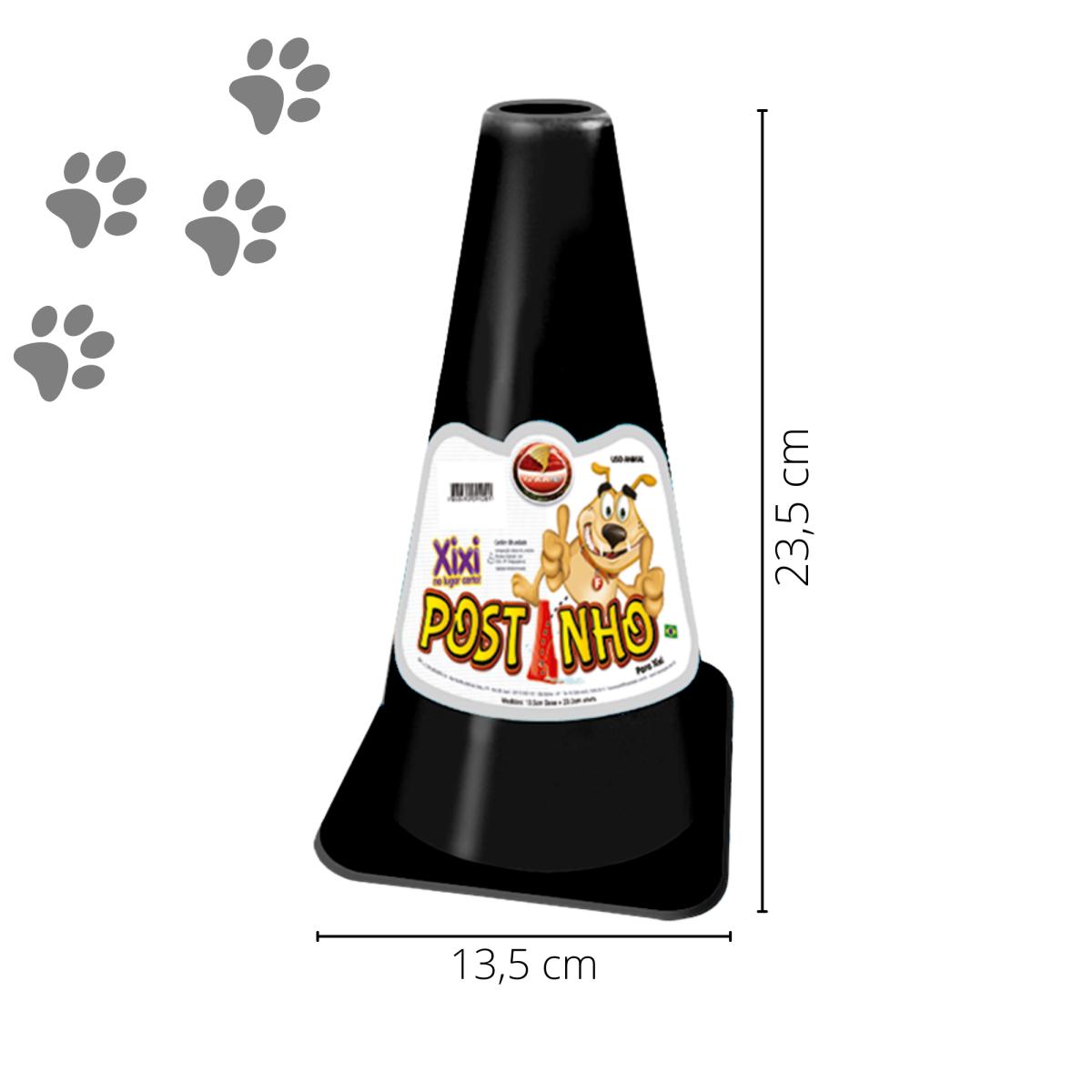 Kit 3 Postinho Cone Educador Sanitário Xixi Cães Furacão Pet