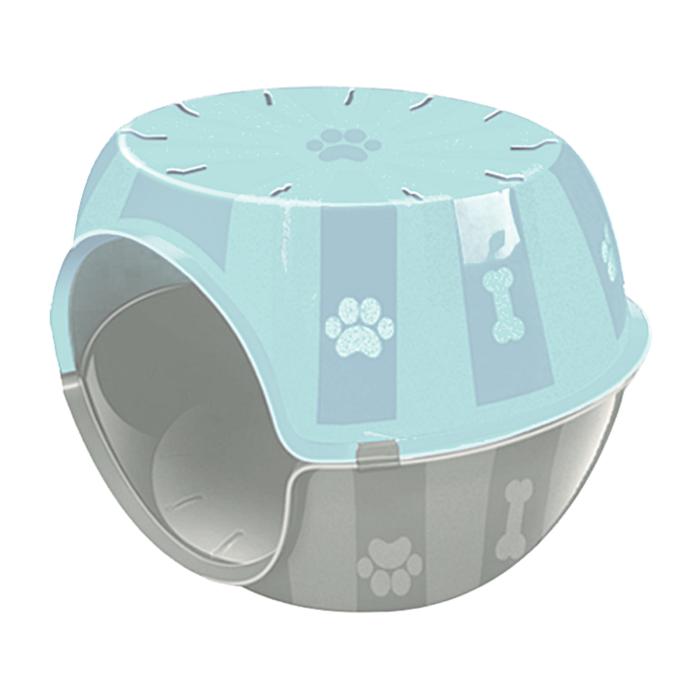 Kit Casa Gato e cachorro Toca c/ Almofada Paris Furacão Azul