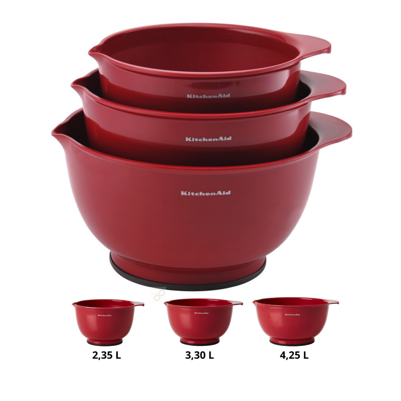 Kit Especial Massas Red Atlas 150 Marcato e 3 Bowls KitchenAid