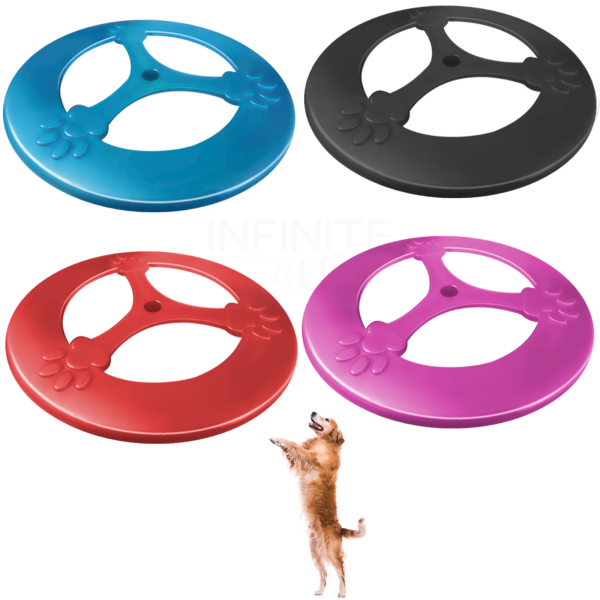 Kit Frisbee Brinquedo Cães Disco 25 cm Furacão Pet 4 Peças