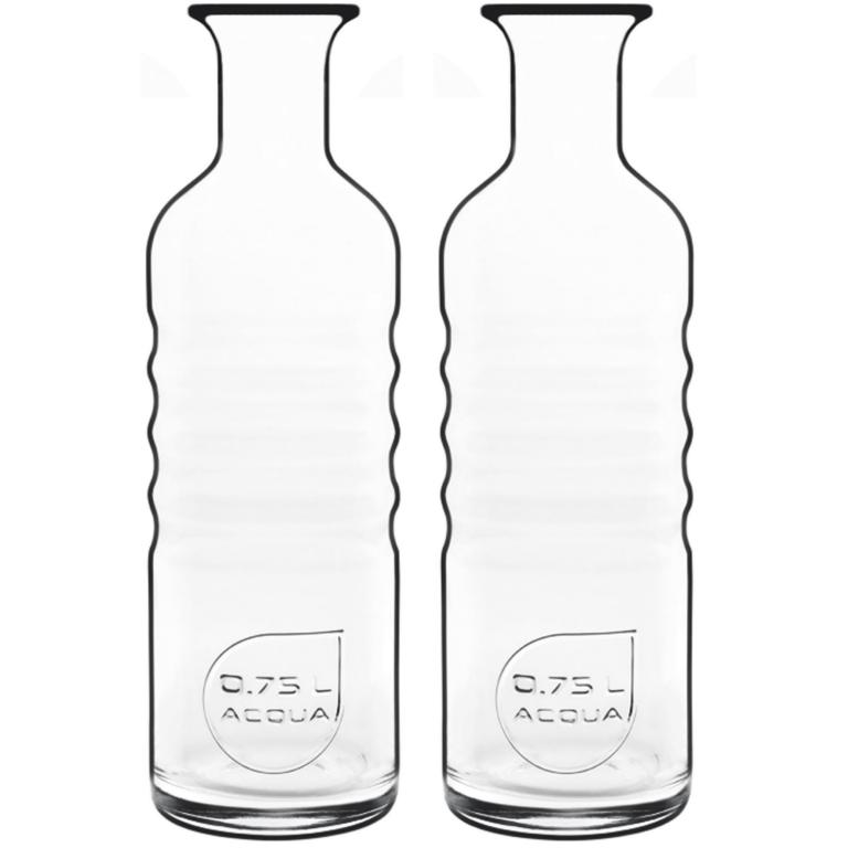 Kit Garrafa De Agua Em Vidro 750 Ml Optima Acqua L. Bormioli