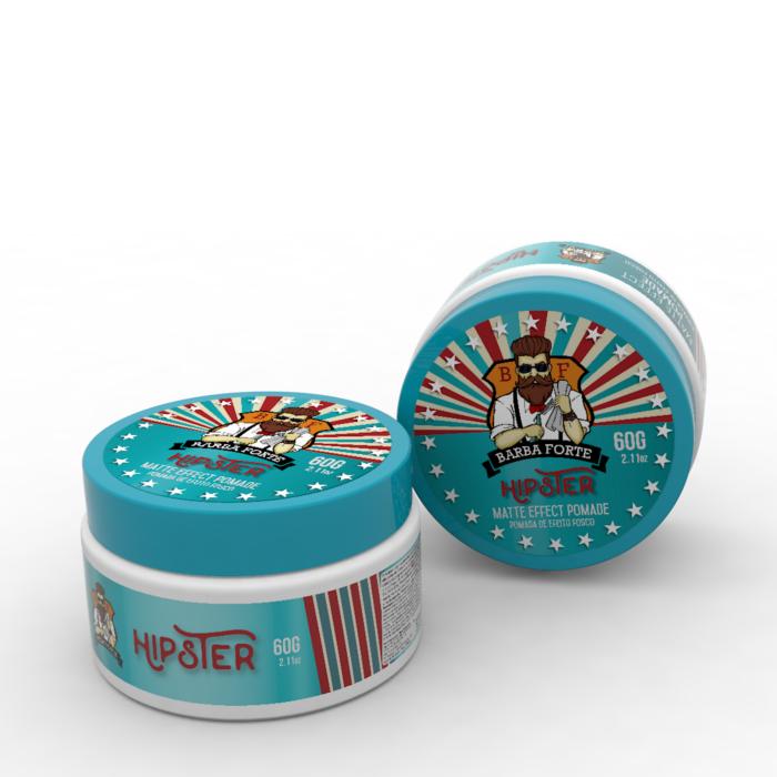 Kit Pomada Modeladora Matte Effect Hipster 60 g e Shampoo Danger 250 ml Barba Forte