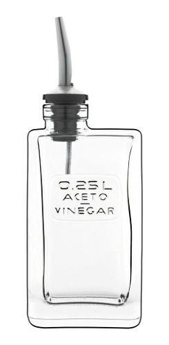 Kit Porta Azeite E Vinagre Vidro E Bico Dosador L. Bormioli