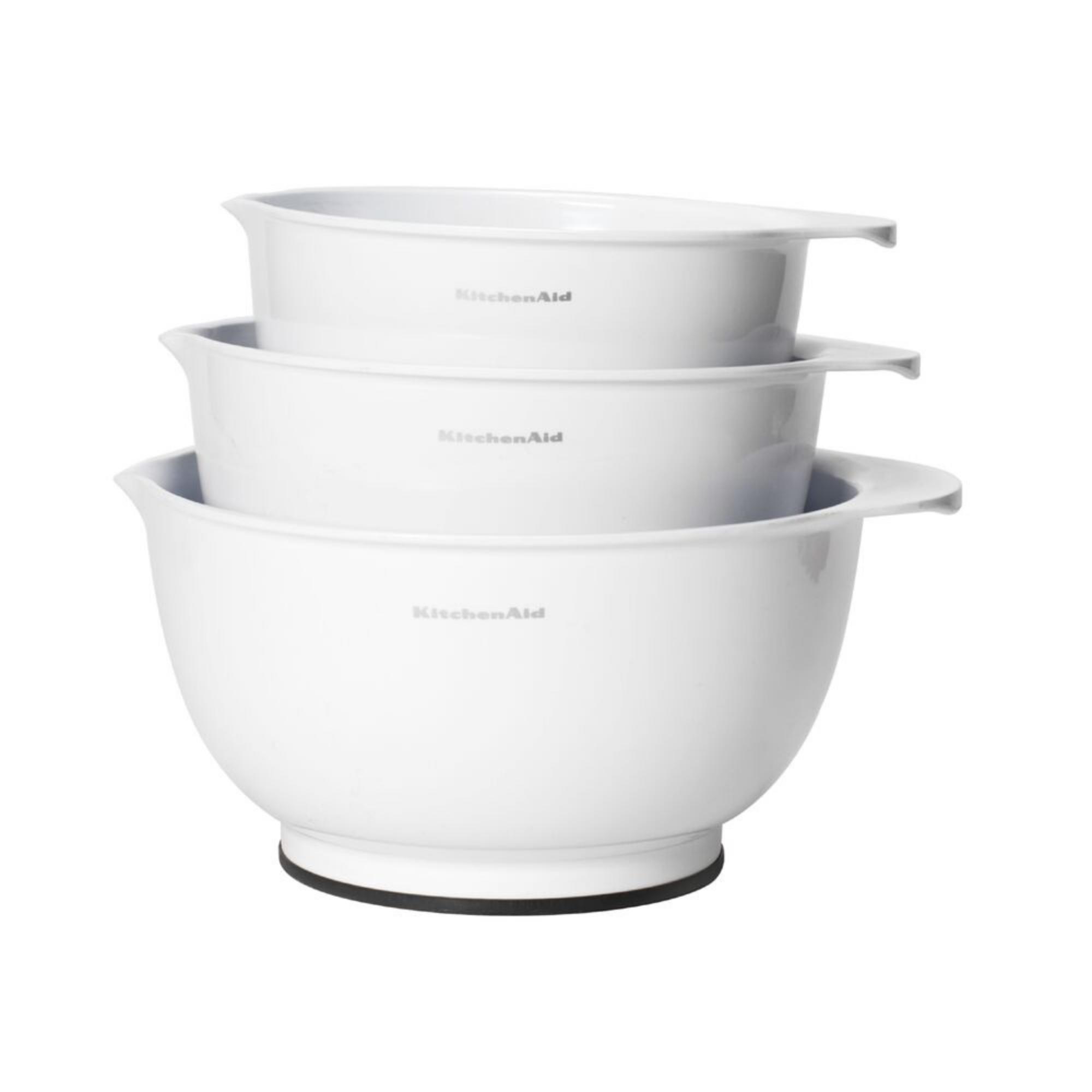 Kit Tigelas Bowls 3 Peças Antiderrapante Branca KitchenAid
