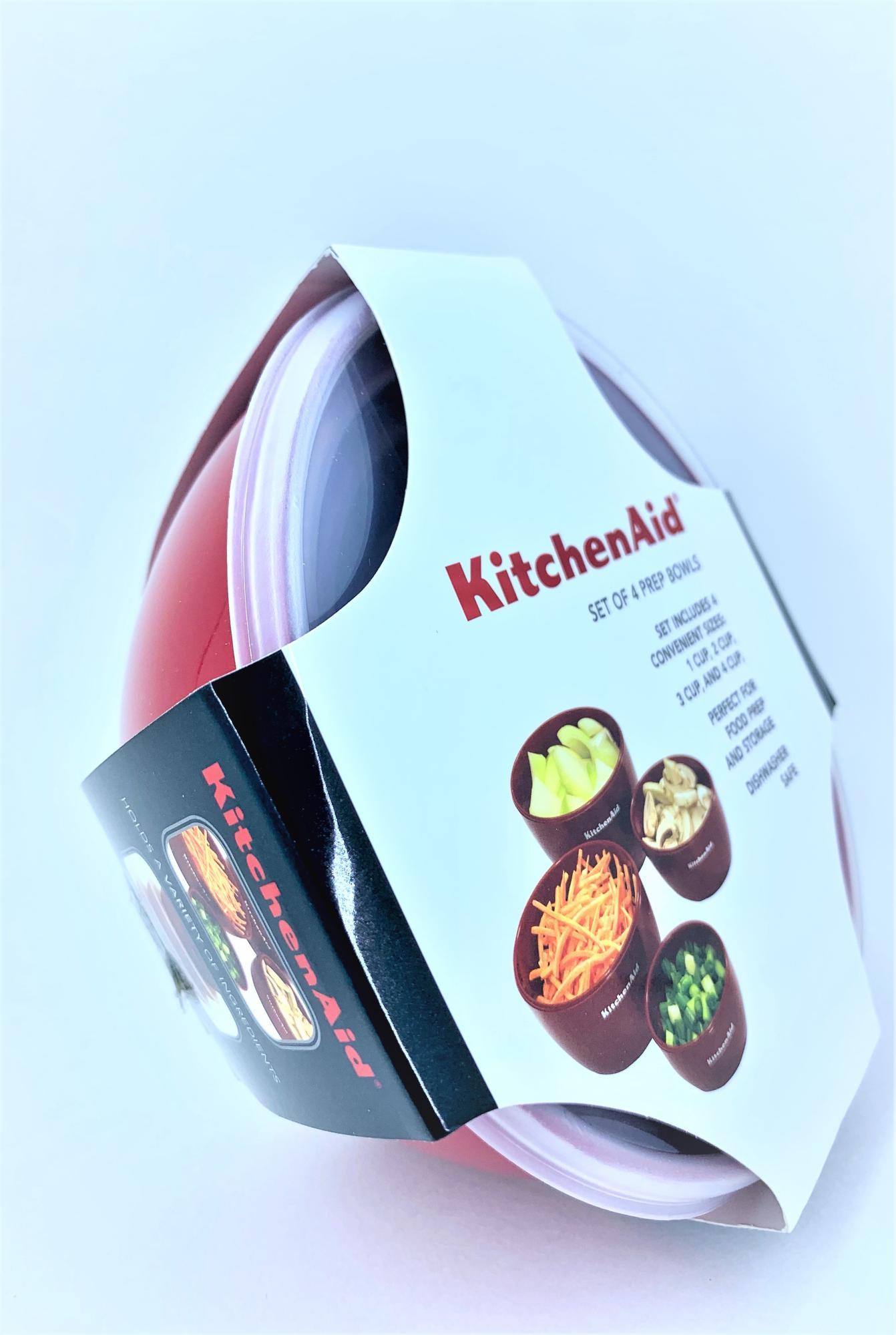 Kit Tigelas Potes 4 peças Vermelho KitchenAid