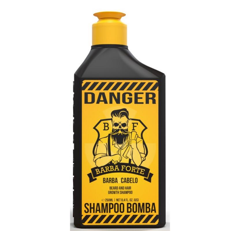 Kit Viagem Barba Forte 4 Produtos com Necessaire e 2 Shampoos 250 ml