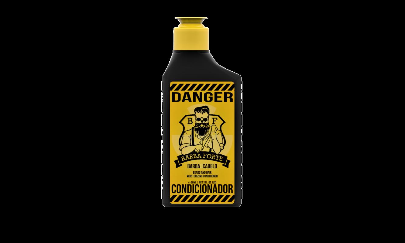 Kit Viagem Danger Barba Forte 4 Itens e Necessaire