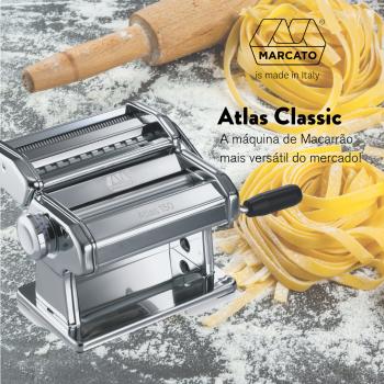 Máquina de macarrão Atlas 150 até 3 tipos de massas Marcato