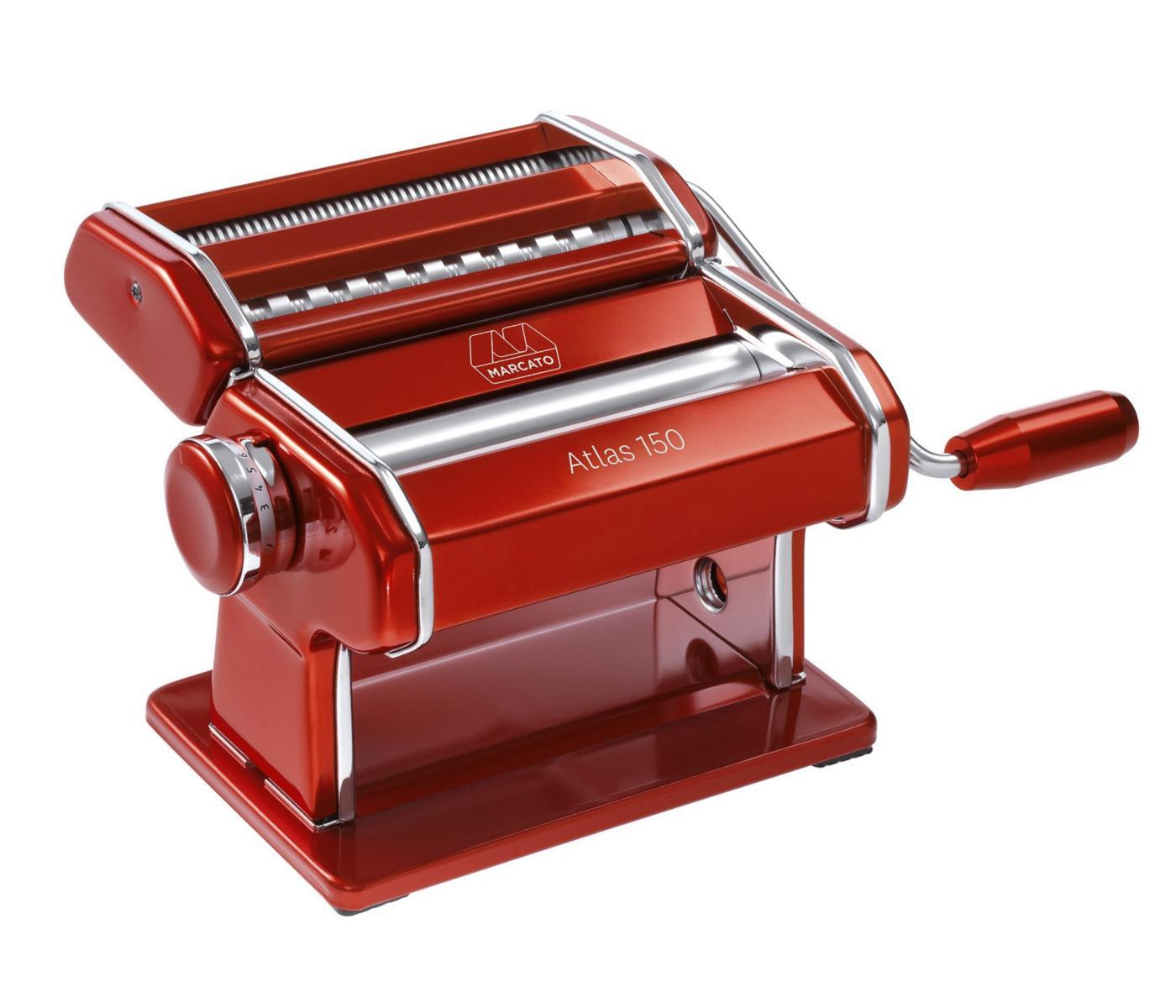Máquina de macarrão Italiana Atlas 150  Vermelha Marcato