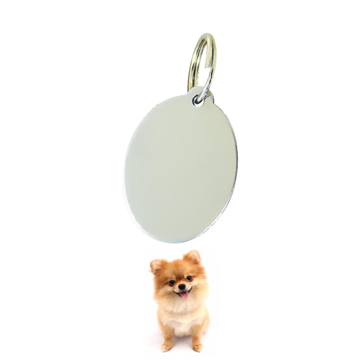 Medalha Identificação Cães Gatos Em Aço Inox Furacão Pet