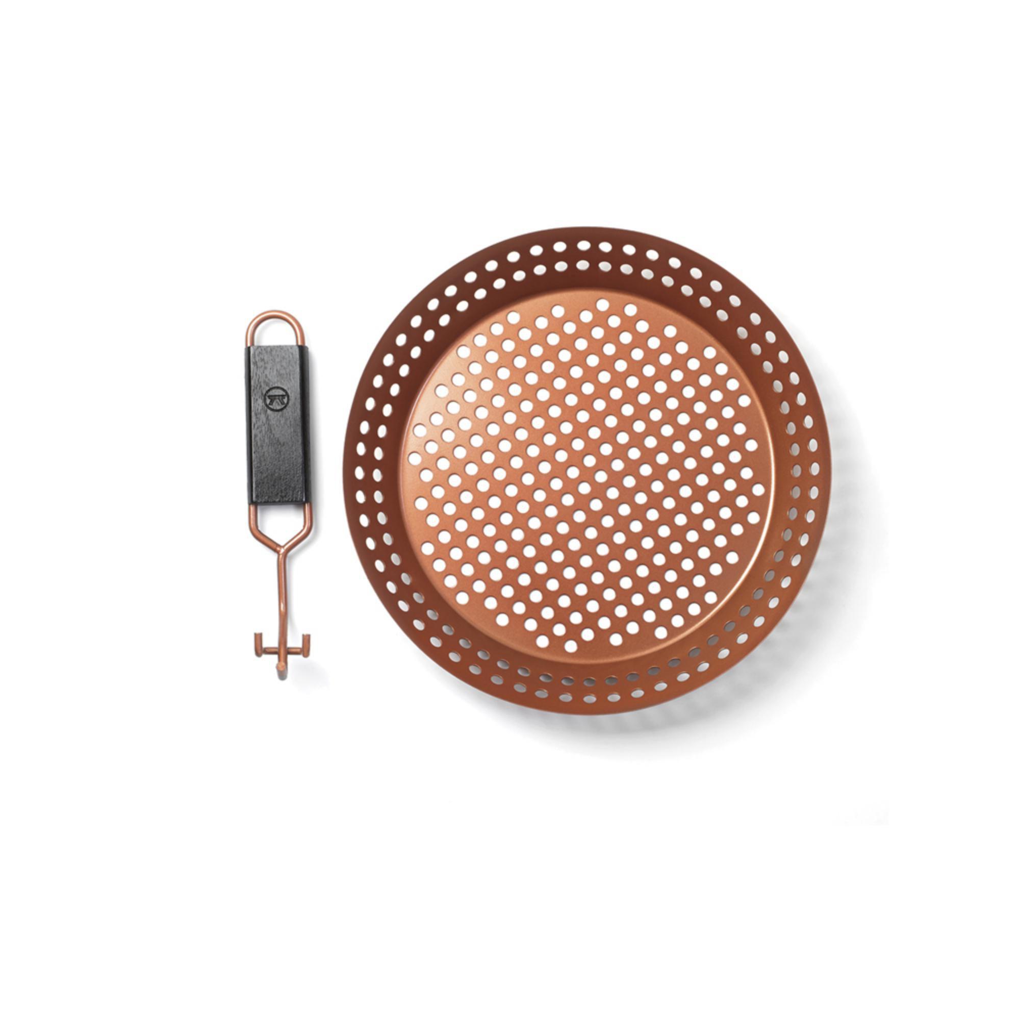Panela Frigideira Antiaderente 30cm para Grelhar em Churrasqueira Bronze  Prana