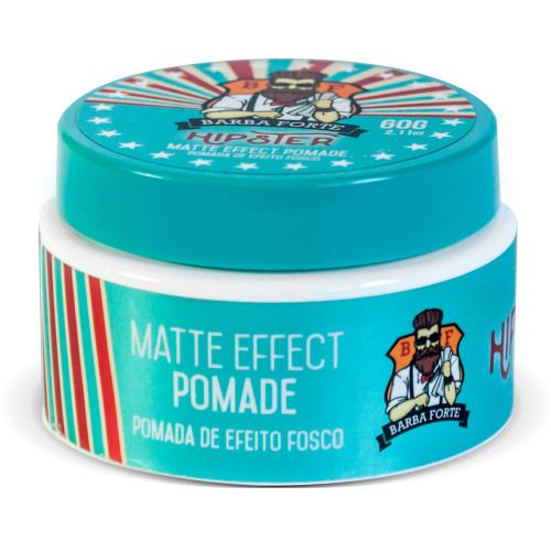 Pomada Modeladora Matte Effect Hipster 60g Barba Forte - Kit 3 Unidades