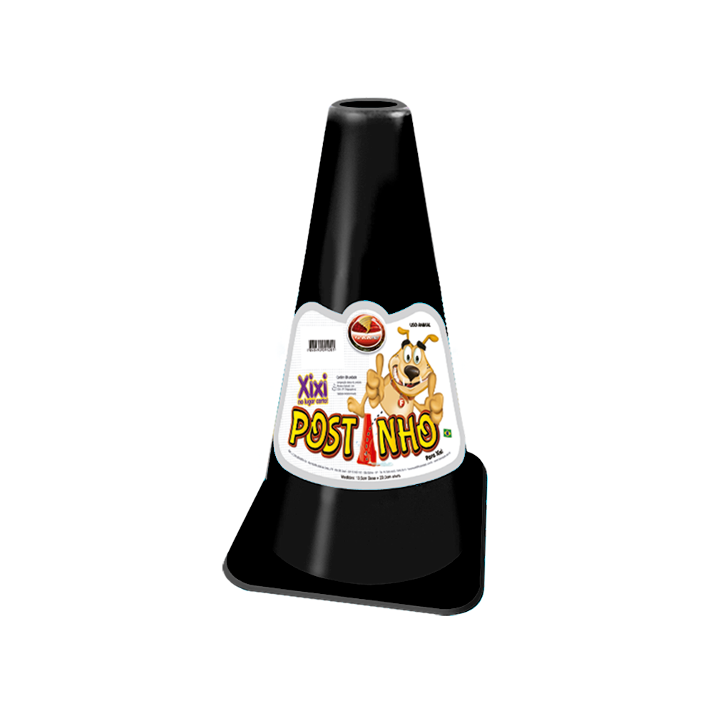 Postinho Cone Educador Sanitário Para Pet Xixi Furacão Pet