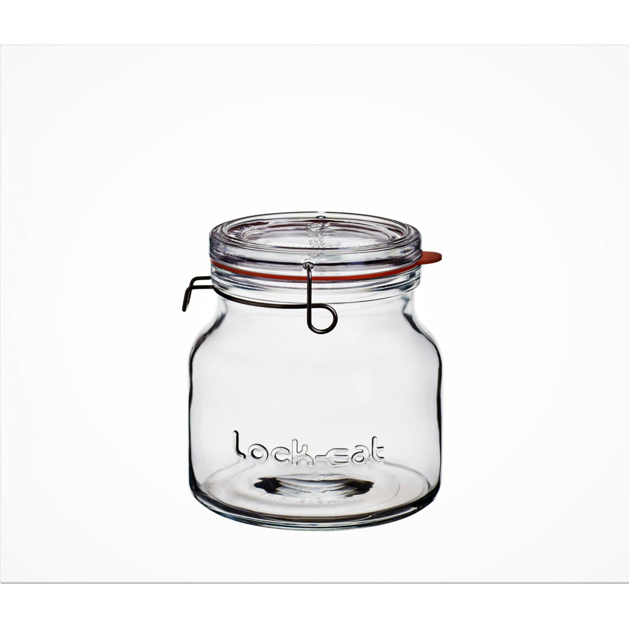 Pote Hermético de Vidro para Geléia Kefir 1,5 L Tampa Luigi Bormioli