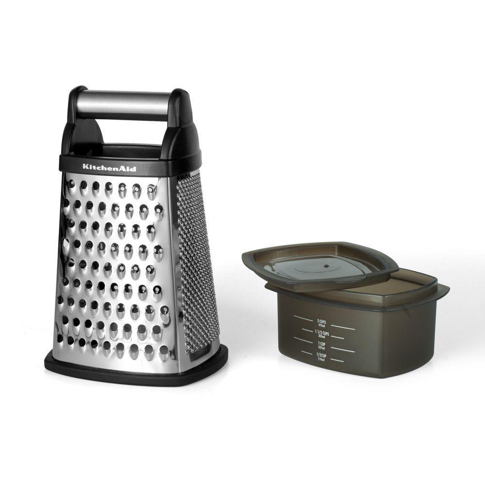 Ralador de Queijo 4 Faces Inox com Copo Medidor KitchenAid