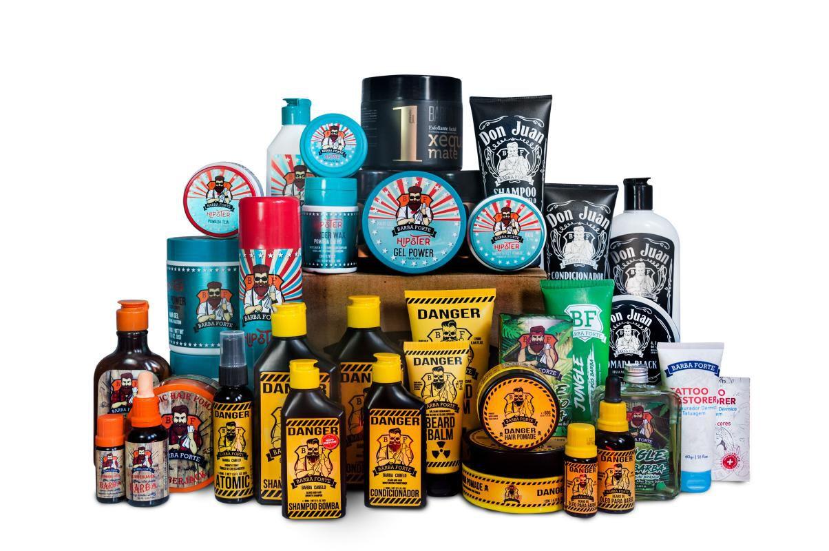 Shampoo Barba Forte Bomba Danger 250ml Cabelo E Barba Kit 3 unidades
