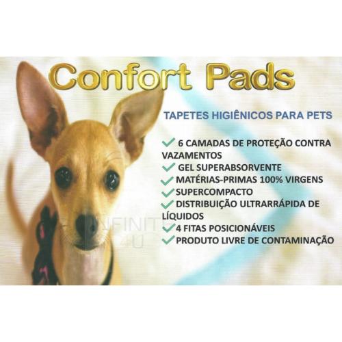 Tapete Higiênico Pet 80x60 Confort Pads 120 unidades c/ fita