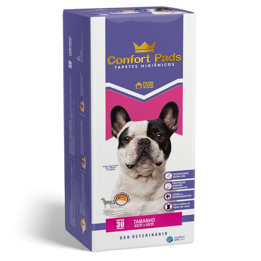 Tapete Higiênico Sanitário Pet Extra Gel 80x60 Confort Pads