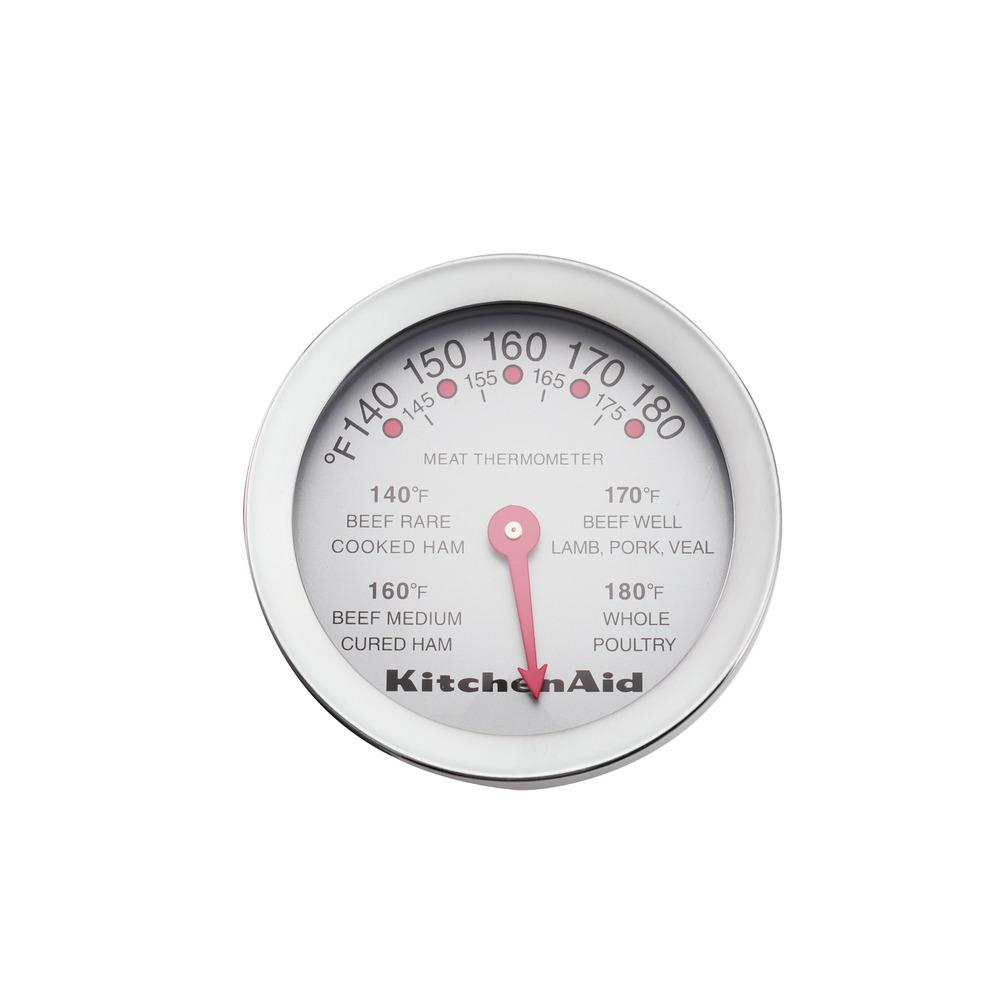 Termômetro Culinário Espeto Carnes Analógico Inox KitchenAid