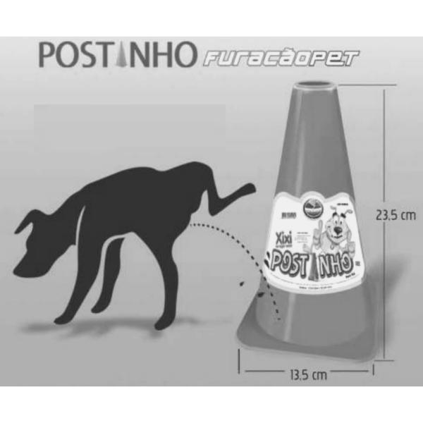 Xixi Tapete Higiênico Grama Sintética + Postinho Furacão Pet