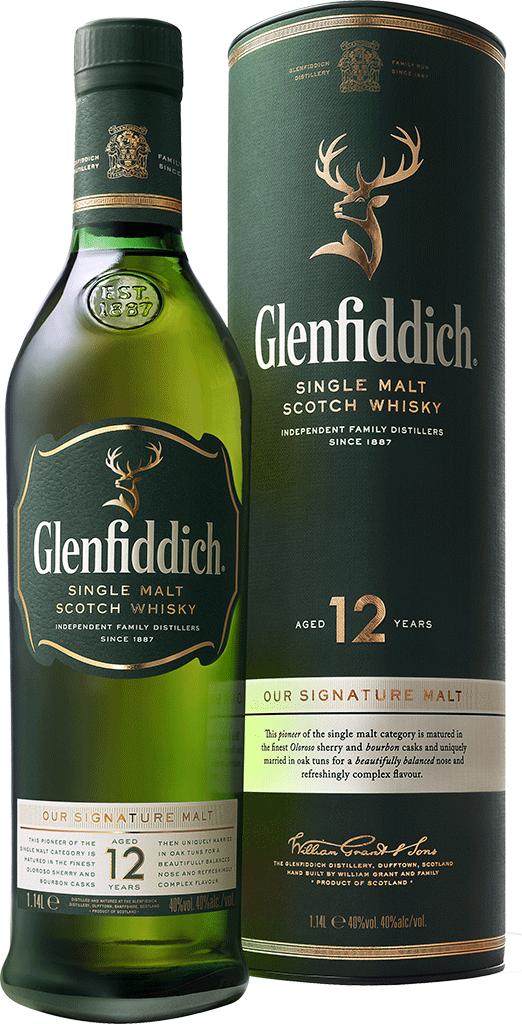 WHISKY GLENFIDDICH 12 SINGLE MALT 750ML