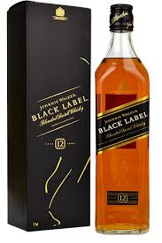 WHISKY JOHNNIE WALKER BLACK LABEL 12ANOS 1L