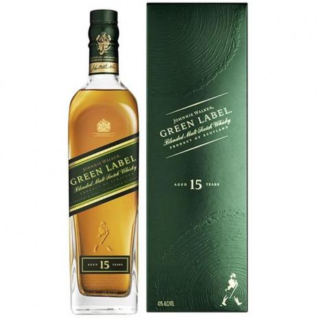 WHISKY JOHNNIE WALKER GREEN LABEL 15A 750ML