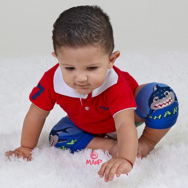 Joelheira Bebê Engatinhar Antiderrapante Atoalhada Fofinha