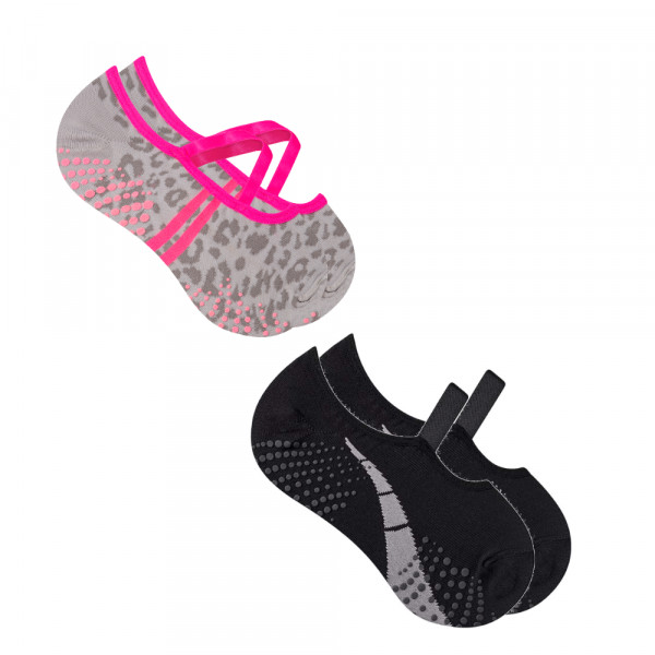 Kit 5 Par Sapatilha Pilates Antiderrapante Feminina Atacado Tamanho:34-39 Tamanho:34-39