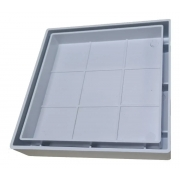 Ralo 10x10 Oculto Invisível Seca Piso Branco