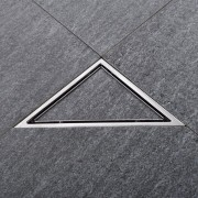 Ralo Invisível Oculto Triangular Emma Decor (N é PVC)