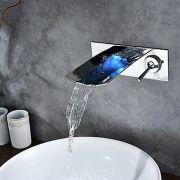 Torneira Parede Led Banheiro Lavabo Monocomando Zurique