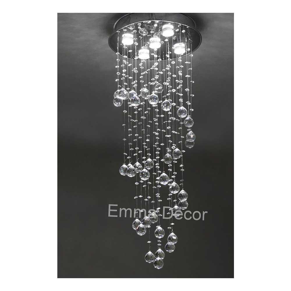 Lustre de Cristal Egípcio Autêntico Asfour 100cm - Abu Dhabi