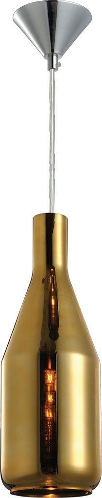 Pendente De Teto Vintage De Aço - Borgonha Dourado